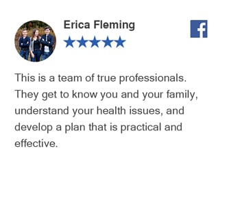 Erica Facebook review for Bellevue Chiropractic Clinic