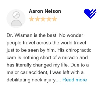 Aaron Nelson review on Healthgrades for Bellevue Chiropractic Clinic