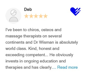 Deb review on Healthgrades for Bellevue Chiropractic Clinic